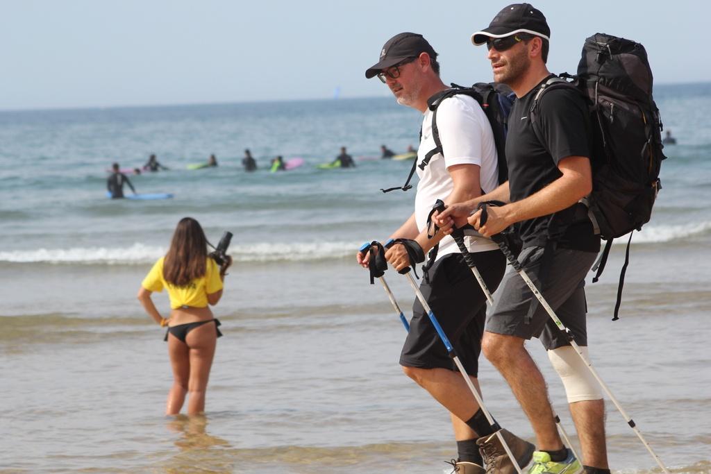 Surf, platja i camino de Santiago