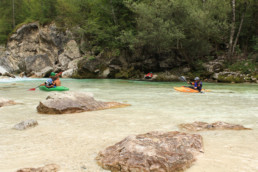 Aigües transparents del riu Soca