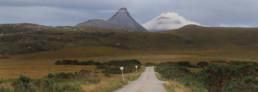 Carretera típica d'escòcia, amb els seus passing places