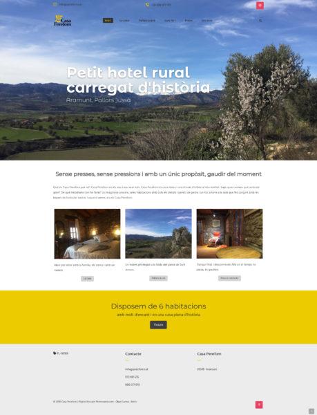 Captura de pantalla de la web de Casa Pere Forn