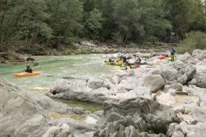 Punt d'embarcament Velika Korita, riu Soca