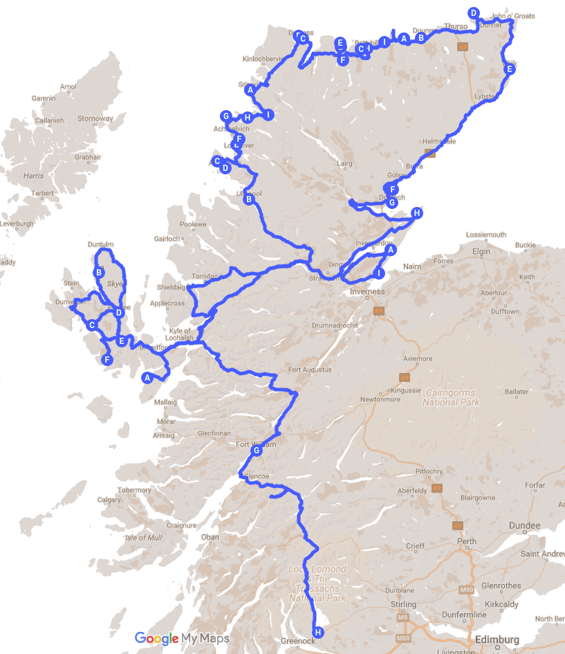 Ruta per escòcia